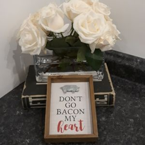 Don't go Breaking BACON my heart Wood Sign Pig NEW